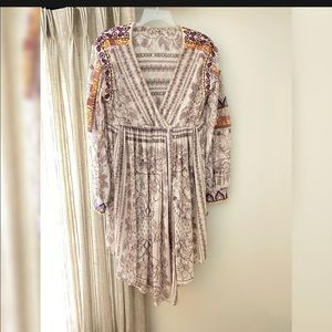 NEW Free People Tunic Dress Embroidered Small